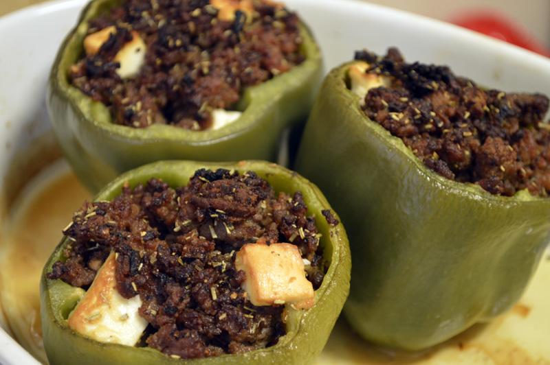 Gresk-inspirert fylte paprikaer