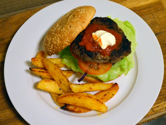 Tex-Mex hamburger