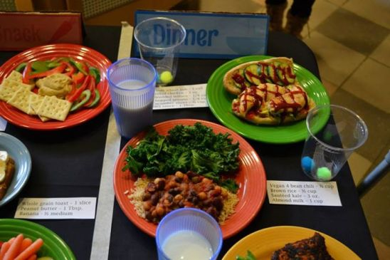 Image result for healthy dining hall food unh