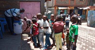 Mathare COVID19 Response:  One Stop tops 8000 handwashes in 10 days