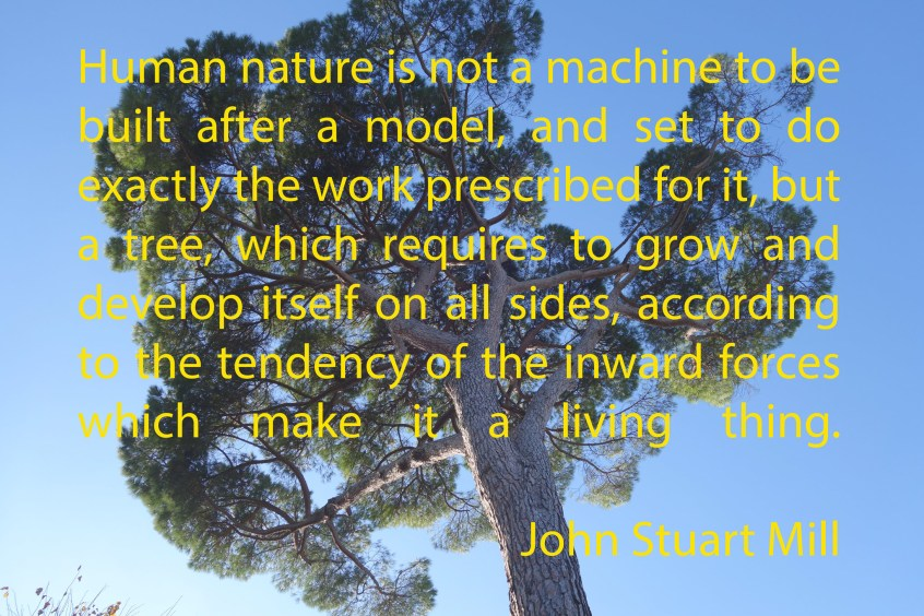 John Stuart Mill's Image of Human Life Like a Tree