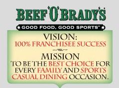 Beef O'Brady's mission