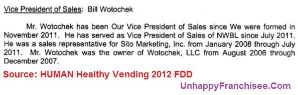 Bill Wotochek Human Vending