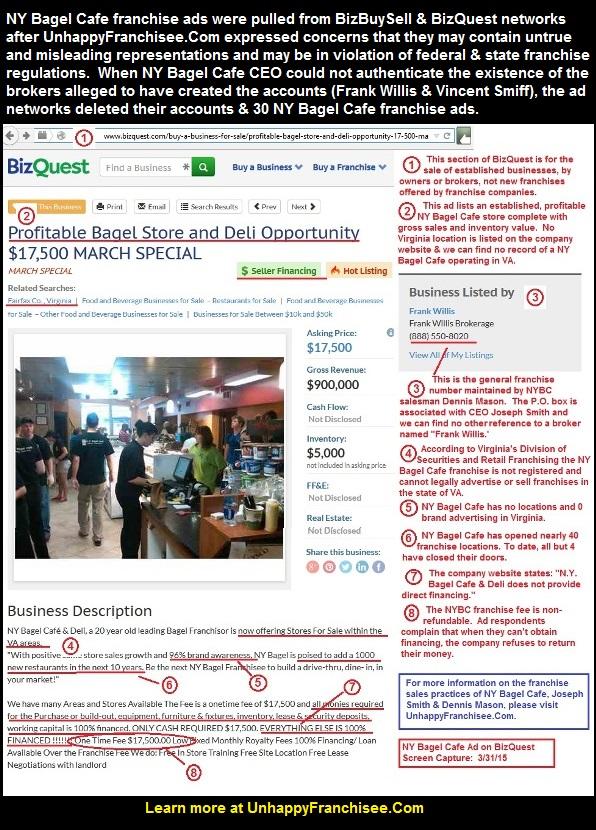 NY Bagel Cafe Franchise Opportunity