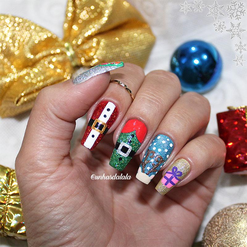 Unhas Decoradas Natal Especial HOLO