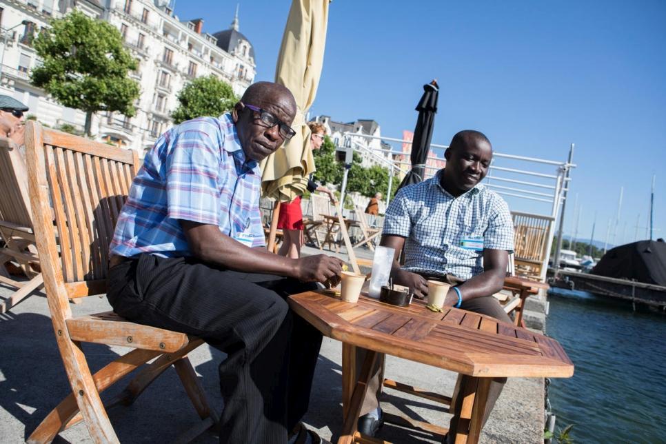 Switzerland. Thomas Nguli, chairperson of the previously stateless Makonde community visits Geneva, Switzerland.