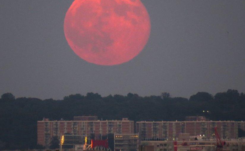 JEFF OLSON: Photo Gallery — Blue Moon Over Washington