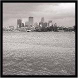 November 5: View of Minneapolis from Lake Calhoun on a gray day.