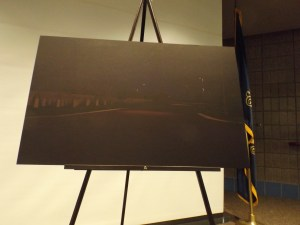 The engineer's rendering of the North Dakota Veterans Cemetery lighting project.