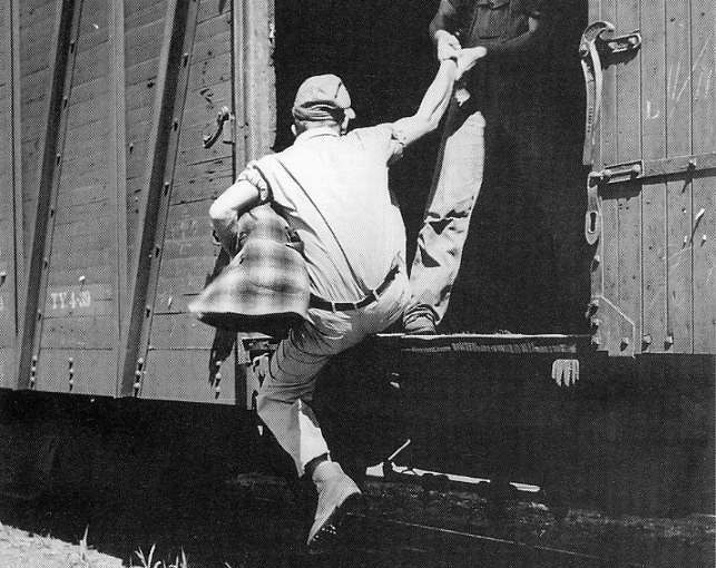 hobos on the trains during the The friction drove maury to remember his brief stint hobo'ing across the country, and so in 1971, he took a breather and snagged a freight train, hoping a little time away would help mend his.