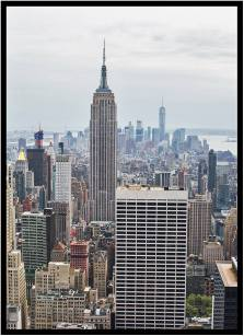 April 30: The Empire State Building, looking toward lower Manhattan, photographed from Rockefeller Center on Thursday, with a Canon 5D Mark III and 50mm lens.