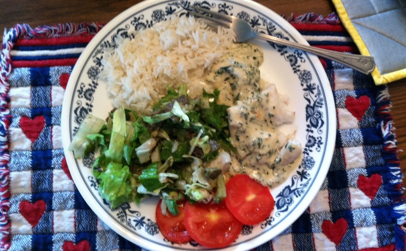 CHEF JEFF: One Byte At A Time — Poached Halibut In Alfredo White Wine Sauce