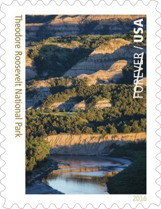 Theodore Roosevelt National Park Forever Stamp.