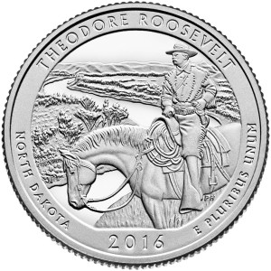 Theodore Roosevelt's new quarter-dollar coin.