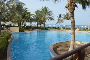 Bar al Jissa Resort for a day of swimming in the pools, or in the Gulf of Oman beyond.