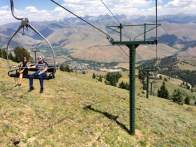 July 31: The view today near the top of the main mountain at Sun Valley Ski Resort in Ketchum, Idaho. I had thought about retiring from the sport, but this gives me pause.