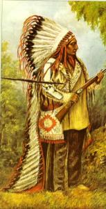 Portrait of Sitting Bull by Catherine Weldon. When he was assassinated in December 1890, Sitting Bull's portrait was slashed by one of his assailants.