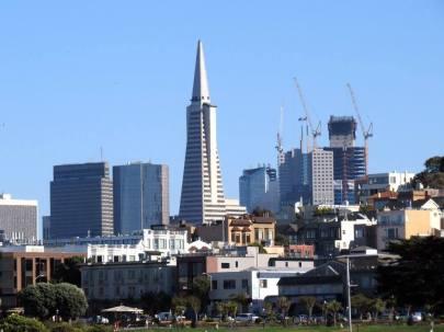 San Franciscon skyline from San Francisco Maritime National Historical Park.