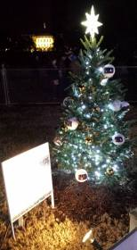 The North Dakota Christmas Tree, decorated by Valley City (N.D.) High School Advance Art students and the White House.