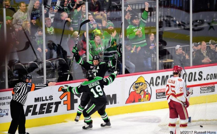 RUSS HONS: Photo Gallery — NCHC Frozen Faceoff: University Of North Dakota vs. Denver University