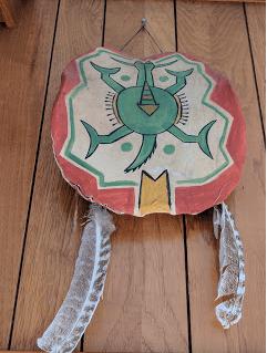 Mandan turtle drum.