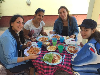 This group of young women accompanied us on our afternoon at the beach with lunch following at Dora Valentin Presbyterian Church in Cardenas conveniently located two blocks from the beach.