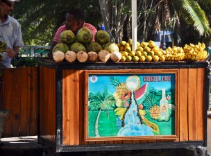 A fruit stand in Havana.