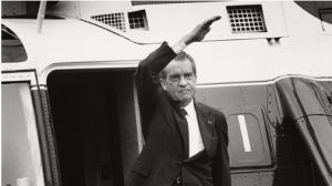 Richard Nixon waves farewell. He was a crook, it turns out, but he loved this country and he understood its place in the world.
