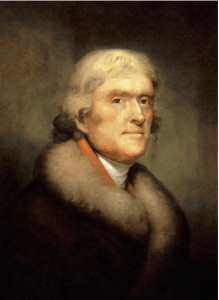 The always elegant Thomas Jefferson.