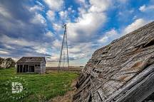 """May 19: """"Country Roads & Old Farmsteads of the Past."""" I liked all the nails lifting out of the boards that once held this building together."""