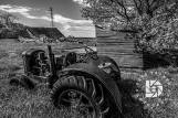 """May 19: """"Country Roads & Old Farmsteads of the Past."""" Another angle of this farmstead, which I liked in black and white."""
