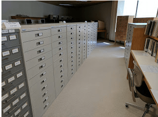 The microfilm collection at SHSND.