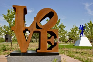 """LOVE"" by Robert Indiana."
