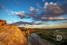 Nice clouds and the winding Little Missouri River completed this sunset image in the North Dakota Badlands.