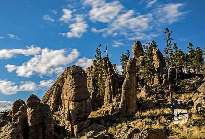 Some very interesting clump of rock formations near the top of the Needles highway in South Dakota.