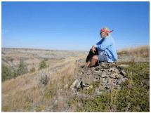 Jim Fuglie on the Achenbach Trail, TRNP North Unit.