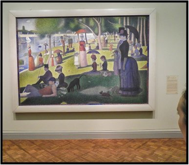 "Georges Seurat's ""A Sunday Afternoon on the Island of La Grande Jatte,"" at the Art Institute of Chicago."