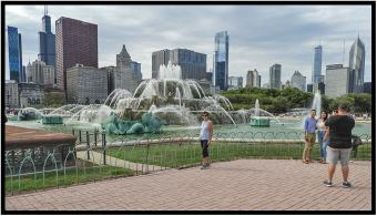 Chicago's Buckingham Fountain in Grant Park.