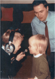 Dad spent a lifetime in broadcasting and loved teaching us kids the ropes.