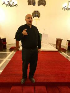 Pastor Haddad said that although they live behind a wall, the Palestinians want to live as a witness of hope as a choice and to live as witnesses to the power of resurrection.