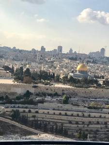 The view from the top of the Mount of Olives.