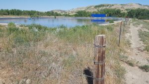 The water depot on BLM land, which is going to have to be removed.
