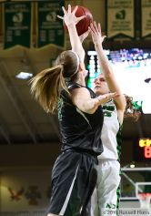 Grand Forks, ND ; February 28, 2018; University of North Dakota Women's basketball vs Portland State. Photo by Russell Hons