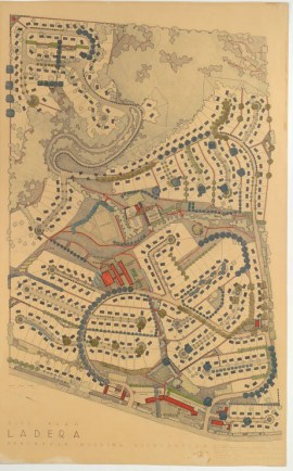 Here's the original plat of the Ladera subdivision in Palo Alto, Calif., described by Wallace Stegner, above.