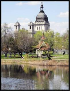 May 7: Perfect day for a long walk in Minneapolis. I shot this photo in Loring Park. That's the always impressive Basilica of St. Mary in the background. Spring is in the air!