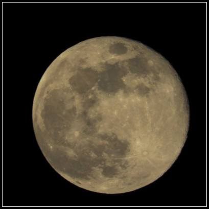 March 31: The moon tonight seen over Bloomington, Minn.