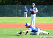 June 19, 2018: The Grand Forks Blues took on East Grand Forks in American Legion baseball at Kraft Field in Grand Forks, ND. East Grand Forks won 12-5.(Photo by Russell Hons)