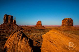 Sunset on Monument Valley.