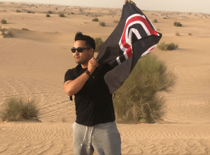 Late-day desert wind.