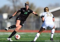 October 21, 2018: A Summit League women's soccer game between Purdue Fort Wayne and the University of North Dakota Fighting Hawks at East Grand Forks Senior High School in East Grand Forks, MN. UND won 7-1. Photo by Russell Hons